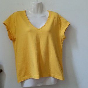 Chicos Basic Top T-Shirt Tee Size M/2 V-Neck